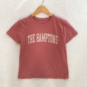 Brandy Melville dusty pink The Hamptons Jamie tee